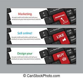 keyboard for marketing, like, buy banner