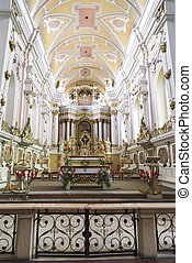 Altar of the church of the Franciscans Poznan Poland