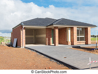 New home construction - new suburban home currently under...