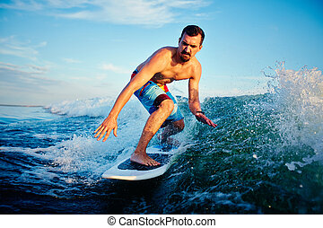 surfboarder, jovem