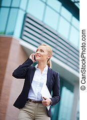 Businesswoman calling - Portrait of elegant businesswoman...
