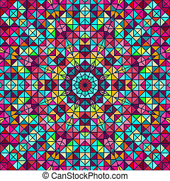 Abstract Colorful Digital Decorative Flower Star