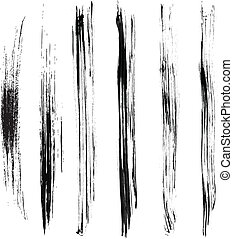 Brush Strokes with the Greyscale volume set 03