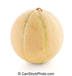 Honeydew melon - Juicy honeydew melon on a white background.