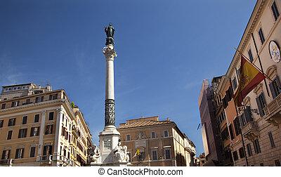 Piazza Mignanelli Colonna Dell Immacoloata Column Spanish...