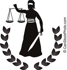 femida woman of justice vector illustration.