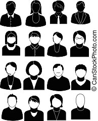 People icons set
