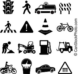 Road traffic icons se