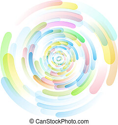 Colored circles vector illustration 10 eps the background...