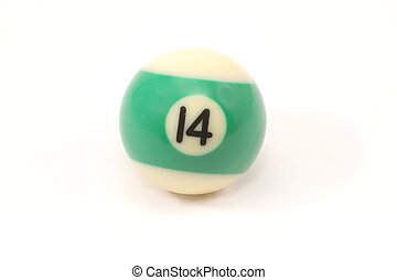 Billiard Ball 14 - Pool Billiard ball number 14 isolated on...
