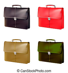 Brown Brief case, vector. vector illustration.