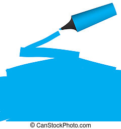 Highlighter Pen drawing highlight on paper - Vector -...