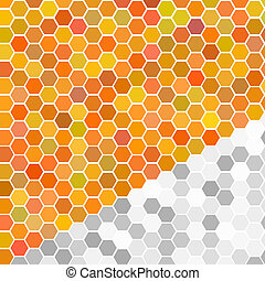 Random orange seamless tiles - Vector - Illustration of a...