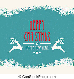 merry christmas snowy background