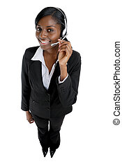 Customer support operator - This is an image of a business...