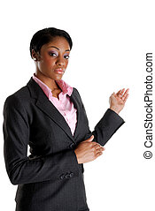 Business woman performing presentation
