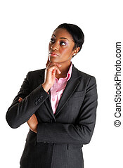 Business woman thinking - This is an image a business woman...