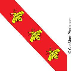 island elba flag with bee symbol