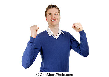 Excited Business man - This is an image of an excited...