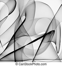 Abstract black and white background - Abstract generated...