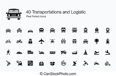 40 Transportations Logistic Icons - This is an amazing set...