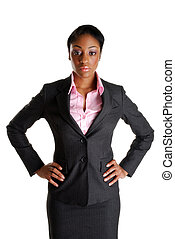 Serious and stern business woman - This is an image of...