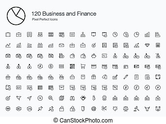 120 Business and Finance Icons