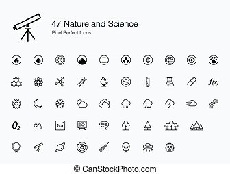 47 Nature and Science Icons