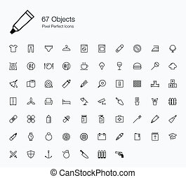 67 Objects Icons