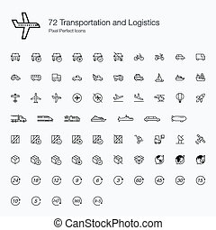 72 Transportations Logistics Icons - We are combining the...