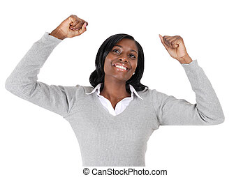 Business woman celebrating success - This is an image of a...