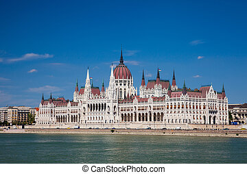 building of the Parliament in Budapest, Hungary - Hungarian...