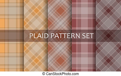 Plaid Patterns Vector set