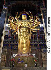 Buddism godness Guanyin Buddhist sculpture, in the Jijue...