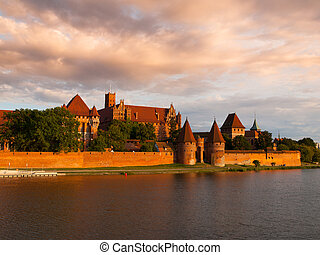 Malbork Castle - Teutonic Castle in Malbork (Marienburg) in...