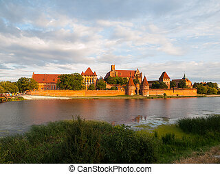 Malbork Castle - Teutonic Castle in Malbork (Marienburg) in...