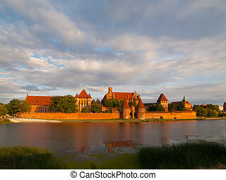 Malbork Castle - Teutonic Castle in Malbork Marienburg in...