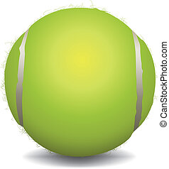 Tennis Ball Illustration - An illustration of a tennis ball...