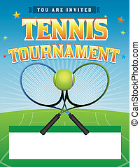 Tennis Tournament illustration - A tennis tournament...