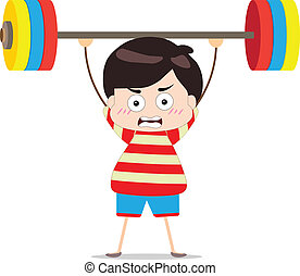 Kids weightlifting
