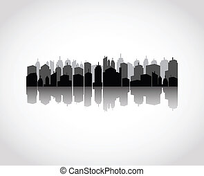 Set of cities silhouette - vector illustration of Set of...