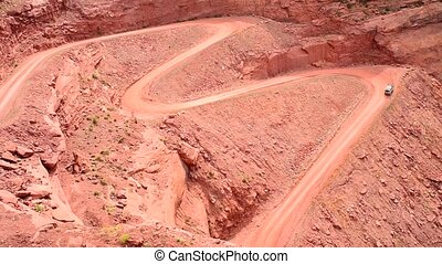 Mineral Bottom Road Utah - Mineral Bottom Road Switchbacks...