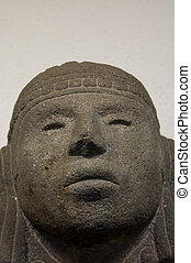 Anahuacalli museum toltec sculpture head from collection of...