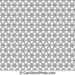 Metal Seamless Lattice with Flower Ornament. Vector.