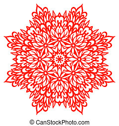 Abstract Flower Mandala. Decorative element for design....