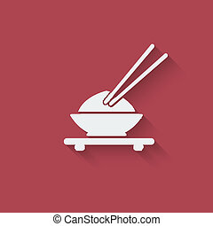 Asian food design element - vector illustration eps 10