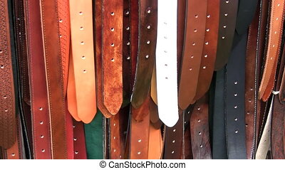 Coloured colored leather belts