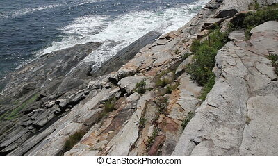 Rocky Costal Shoreline Maine USA - Rocky Coastal Shoreline...