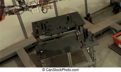 Industrial Robots 02. - Images of two industrial robots...