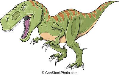 Tyrannosaurus Dinosaur Vector Art - Tyrannosaurus Dinosaur...